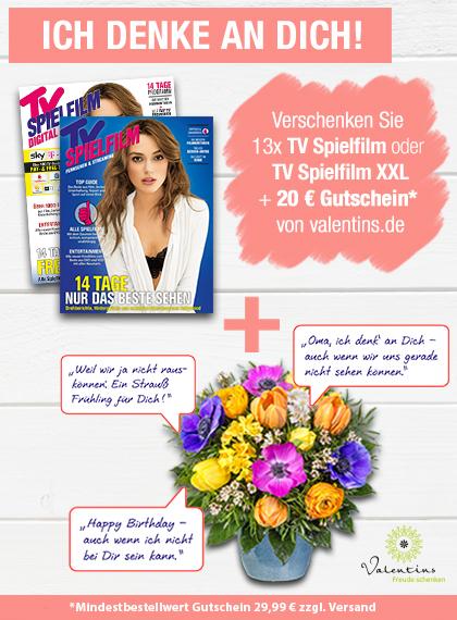TV SPIELFILM + XXL - Valentins Gutschein Blumengruß