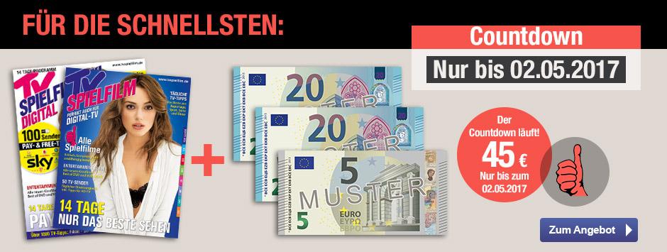 Jetzt TV SPIELFILM Leser werben + 45 € sichern!