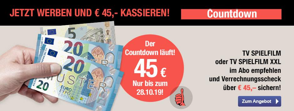 TV SPIELFILM + XXL - Countdown 45€ sichern!