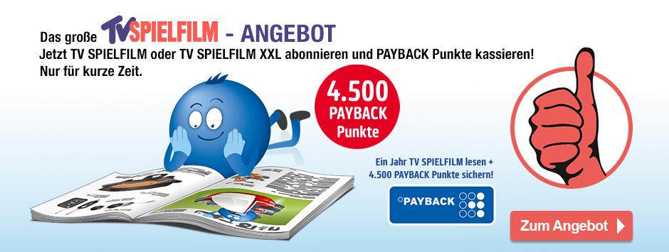 TV Spielfilm + XXL Paybackangebot Jahresabo