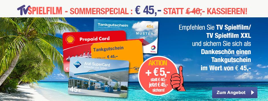 TV SPIELFILM Prämien-Abo mit 45 Euro Tankgutschein