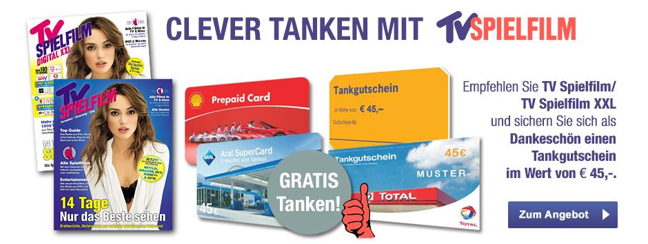 TV SPIELFILM Clever Tanken - Prämien-Abo mit 45 Euro Tankgutschein Dez 2019