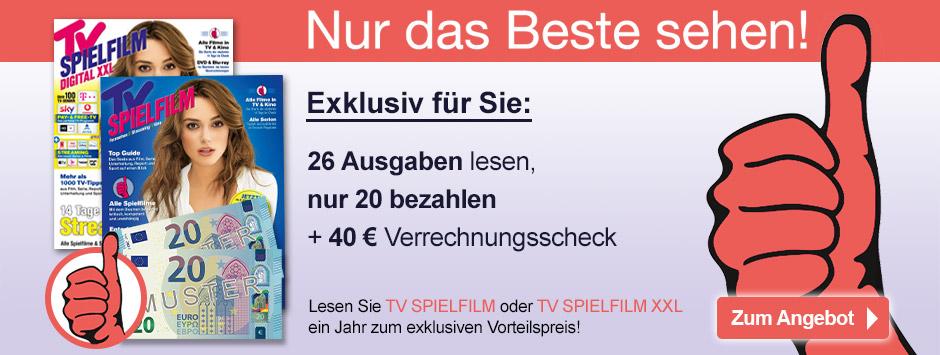 TV SPIELFILM + XXL Jahresabo mit 40 € Scheck - Angebot NVG