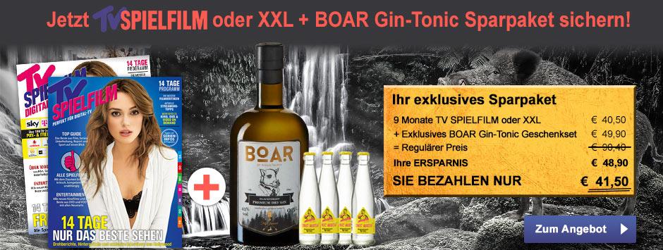 TV SPIELFILM + XXL - BOAR Gin-Tonic Geschenkset