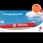 TOTAL-Tankgutschein im Wert von 45 EUR