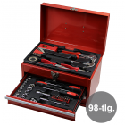 Werkzeugset im Metallkoffer  98-tlg.